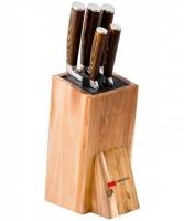 Mikadzo Mikadzo 4992007 Набор ножей Damascus (5 ножей) + УНИВЕРСАЛЬНАЯ ПОДСТАВКА Ножи
